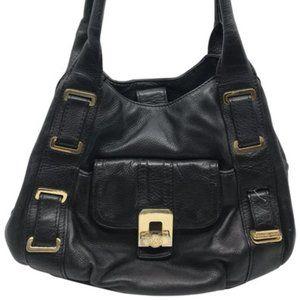 Michael Kors Black Large PU Leather Shoulder Bag